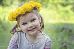 Happy and cheerful girl with a beautiful smile, Royalty Free Stock Photo