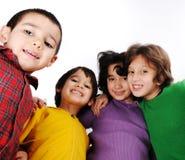 Happy cheerful group Stock Photos