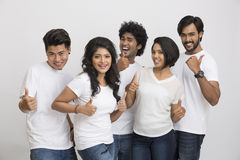 Happy Cheerful group of Indian students Stock Photos