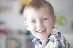 Happy cheerful kid Stock Images
