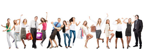 Happy cheerful people Stock Images