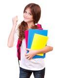 Happy cheerful schoolgirl Royalty Free Stock Photography