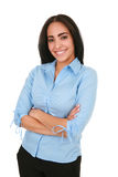 Happy Cheerful Young Hispanic Businesswoman Royalty Free Stock Images