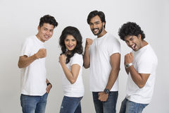 Happy cheerful young Indian friends Royalty Free Stock Images