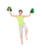 Happy cheerleader Royalty Free Stock Photography
