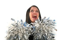Happy cheerleader Stock Photography
