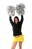 Happy cheerleader Royalty Free Stock Photo