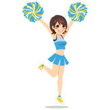 Happy Cheerleader Girl Royalty Free Stock Image