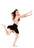 Happy Cheerleader Jump Stock Images