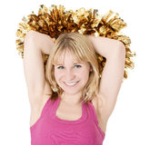 Happy cheerleader Royalty Free Stock Photos