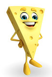 Happy Cheese Character Royalty Free Stock Photos