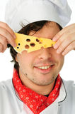 Happy chef with cheese Royalty Free Stock Photo