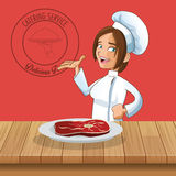 happy chef or cook icon image Stock Image