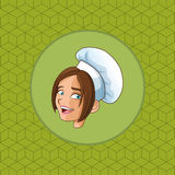happy chef or cook icon image Royalty Free Stock Photo