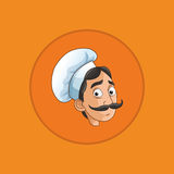 happy chef or cook icon image Stock Photos