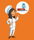 happy chef or cook icon image Royalty Free Stock Image