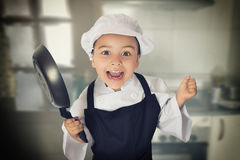 Happy chef girl Stock Images