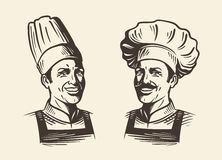 Free Happy Chef In Hat. Sketch Vector Illustration Royalty Free Stock Photos - 82949258