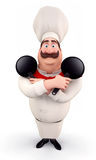 Happy chef with pan Stock Images