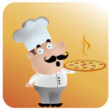 Happy chef with pizza Stock Photos