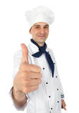 Happy chef with thumbs up Royalty Free Stock Photo