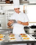Happy Chef Using Digital Tablet Stock Photography