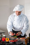 Happy chef at work Stock Photos