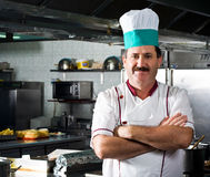 Happy chef at work Royalty Free Stock Photos