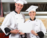 Happy chefs Stock Images