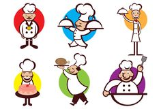Happy Chefs Royalty Free Stock Images