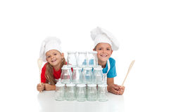 Happy chefs ready for canning Stock Photography
