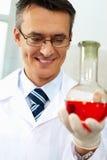Happy chemist Royalty Free Stock Image