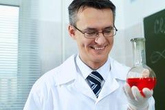 Happy chemist Stock Photo
