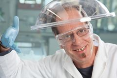 Happy Chemist Stock Images