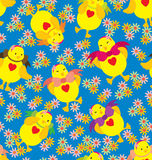 Happy Chick Pattern Royalty Free Stock Photo