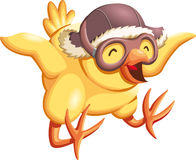 Happy chick. Trying to fly Royalty Free Stock Photography