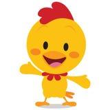 Happy chick vector art illustration Royalty Free Stock Image