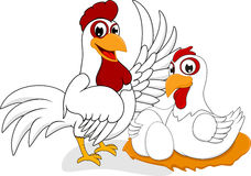 Happy Chicken Family Stock Images