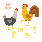 Happy Chicken family. Royalty Free Stock Image