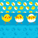 Happy Chicks Dancing Stock Image