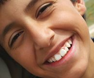 Happy Child. Close up of smiling boy stock photos