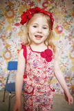 Happy child. Smiling happy little girl looking at camera Stock Images