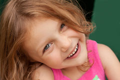 Happy child. Portrait of a beautiful little girl smiling Stock Image