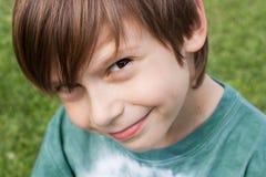 Happy child. Portrait of a cute little boy smiling Stock Photo