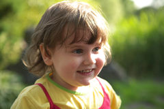 Happy Child. Happy smiling child portrait close-up royalty free stock photo