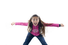 Happy child. With open arms Stock Image