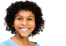 Happy Child. Posing isolated over white Royalty Free Stock Photos
