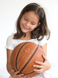Happy child with basketball Stock Photography