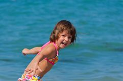 Happy child on the beach Royalty Free Stock Photos