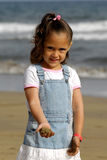 Happy child on beach Royalty Free Stock Image